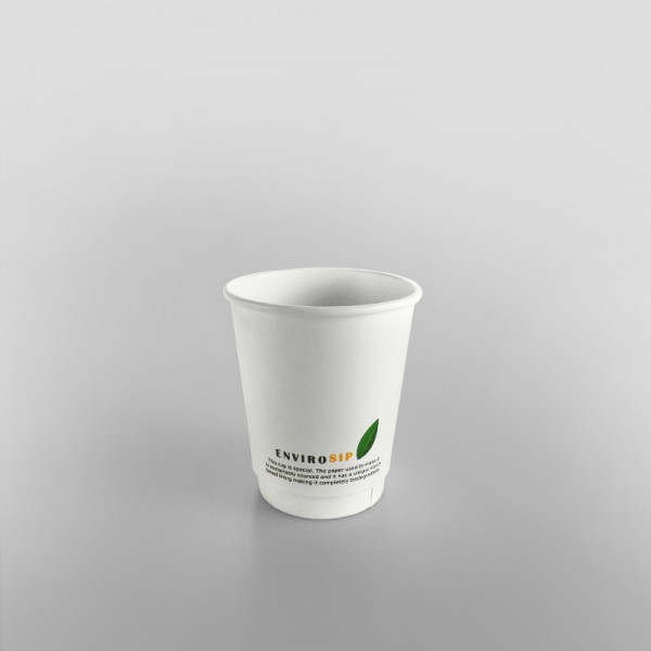 Compostable Coffee Cup Double Wall White