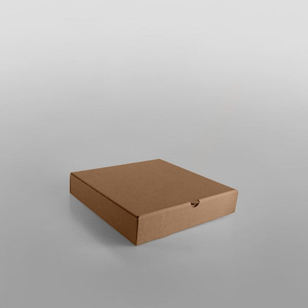 Pizza Box Brown Plain, Square