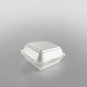 Linpac 'HP6' White Colour Polystyrene Container (Quarter Pounder)