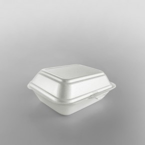 Linpac 'HP2' White Colour Polystyrene Container (Burger & Chips)