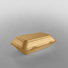 Linpac 'TT10' Champagne Colour Polystyrene Container (Fish & Chips)