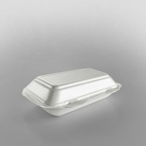 Linpac 'TT10' White Colour Polystyrene Container (Fish & Chips)