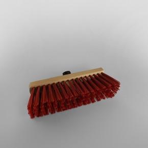 Red Wooden Broom Stiff Bristle [279mm]