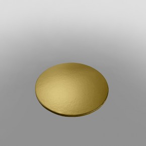 Cake Card Gold Double Thick