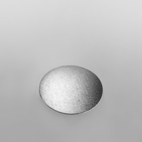 Cake Card Silver Round Single Thick
