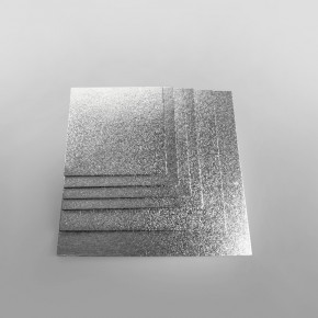 Cake Card Silver Square Extra Thick