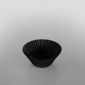 Bun Case [2217] Plain Black 50mm
