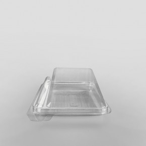 Somoplast Plastic Cake Slice Clear Hinged Container
