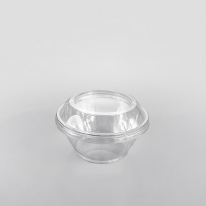 Somoplast Lid For Clear Round Dessert Container [200cc-250cc]