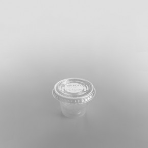 Dart Plastic Sauce Container Lid Clear