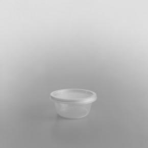 Satco Plastic Sauce Container Round & Lids