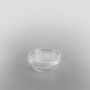 Clear Round Plastic Container