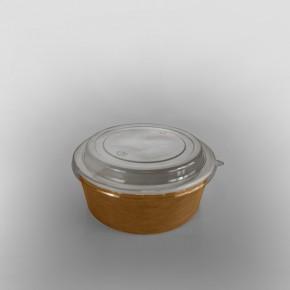 PET Lid To Fit Kraft Paper Food Bowl [1250cc]