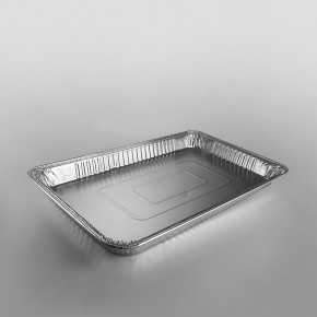 Full Shallow Gastronorm Foil Container - Rolled Edge [38x325x527mm]