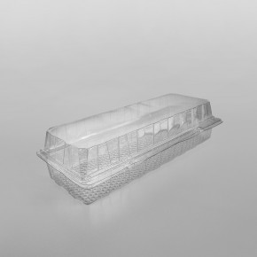 GPI Patipack Clear Hinged XL Rectangular Bakery Container [2240cc]