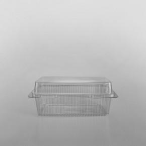 GPI Traitipack Clear Hinged Medium Rectangular Bakery Container [1000cc]