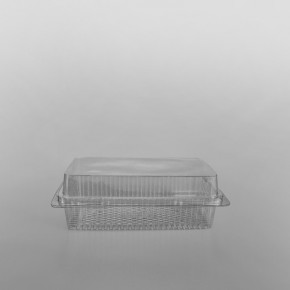 GPI Traitipack Clear Hinged Medium Rectangular Bakery Container [800cc]