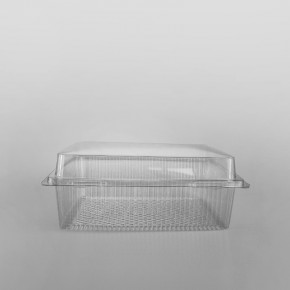 GPI Traitipack Clear Hinged XL Rectangular Bakery Container [3400cc]