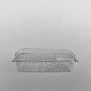 GPI Traitipack Clear Hinged Large Rectangular Bakery Container [1600cc]