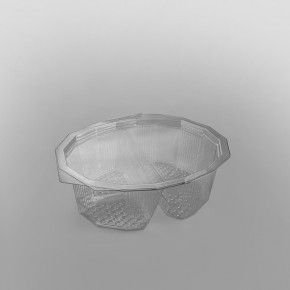 GPI Multipack 2 Compartment Clear Hinged Container [750cc]