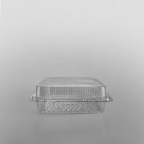 GPI Traitipack Clear Hinged Square Bakery Container