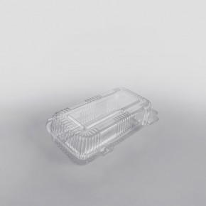 Somoplast Clear Hinged Bakery Rectangular Container