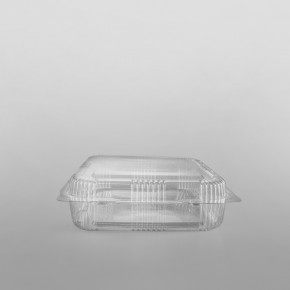 Somoplast Clear Hinged Bakery Square Container