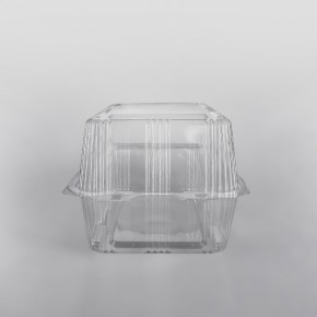 Somoplast Clear Hinged Bakery Rectangular Container [750cc]