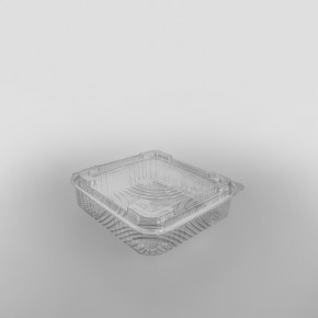 Somoplast Clear Hinged Domed Square Container