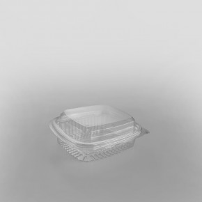 Somoplast Domed Lid Clear Hinged Rectangular Container