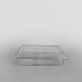 Somoplast 1 Compartment Clear Hinged Extra Large Rectangular Container