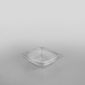 Somoplast Clear Hinged Flat Square Container