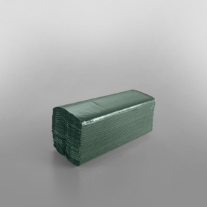 C-fold Green Hand Towel 1ply [31 x 22.5cm - When Unfolded]