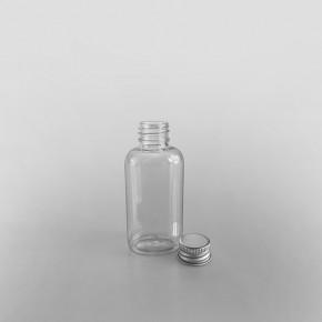 Oval Clear Juice Bottle & Cap [50ml]