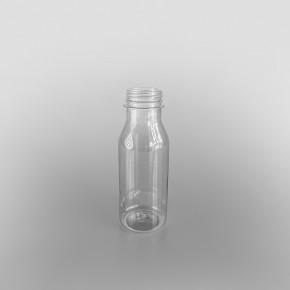 Clear Round Juice Bottle & Caps