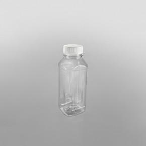 Clear Square Juice Bottle & caps