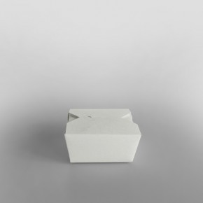 Paper Food Box White
