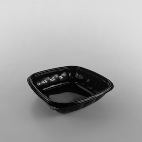 Somoplast Square Black Microwave Take Away Container