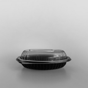 Anchor Clear Microwavable Lid For Black Oval Microwavable Platter [355ml]