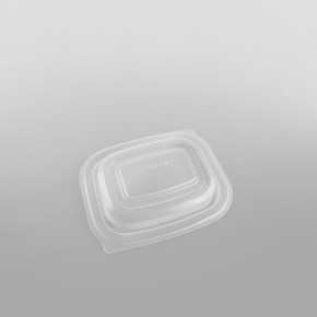 Somoplast Clear Microwave Lid For Small Black Microwave Take Away Container