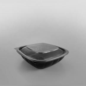 Somoplast Square Black Microwave Container Lid