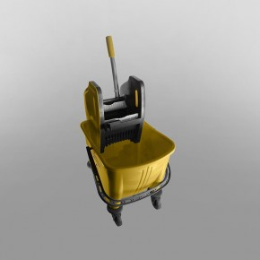 25 Litres Bucket & Wringer Mopping Combo [Yellow]