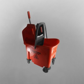 25 Litres Bucket & Wringer Mopping Combo [Red]