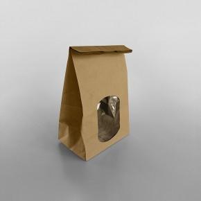 Paper Brown Window Bags [150x100x250mm]
