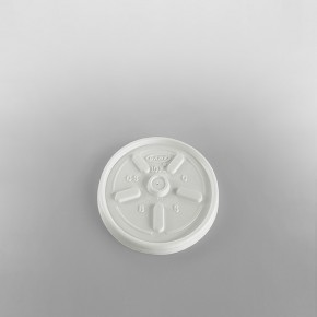 Dart [10JLPF] Plastic Lid Vented White [10oz]