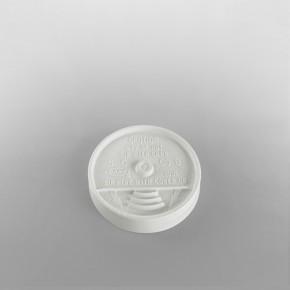 Dart [10UL] Plastic Lid Sip Thru White [10oz]