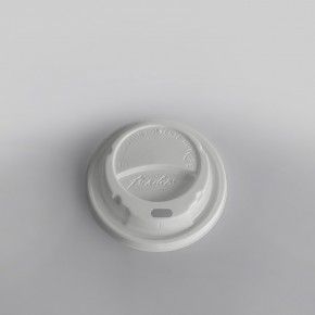 Bender Hot Plastic Lid White Domed