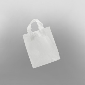 SOS White Plastic Carrier Bag