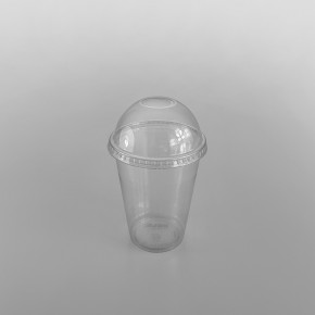 Solo [DLR640/DL140] Plastic Lid Domed Clear [12oz] for TP22