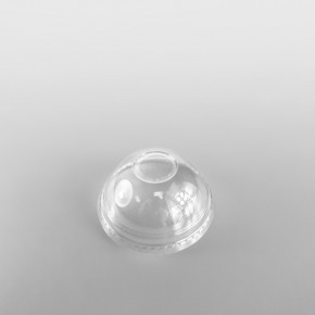 Somoplast Clear Domed Lids, With Hole for PET Cold Cups